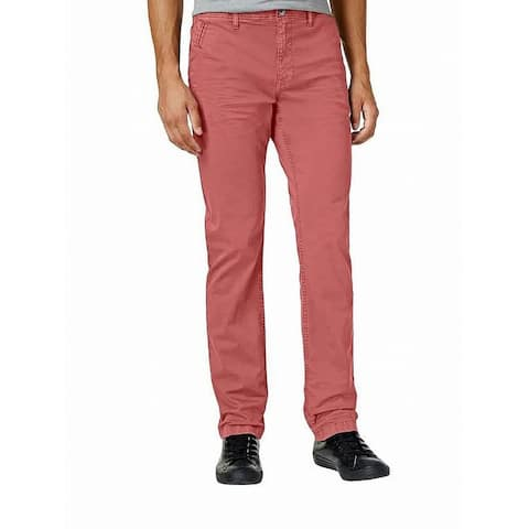 William Rast Mens Pants Pink Size 36X32 Slim Straight Leg Stretch