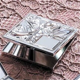 Godinger 182 Silver plated Compact Mirror Set