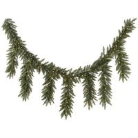 "9' x 12"" Pre-Lit Camdon Fir Artificial Icicle Christmas Garland - Clear Dura-Lit Lights - green"