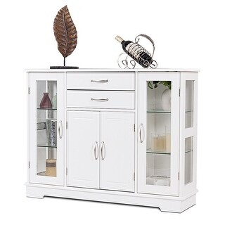 dining room cupboard storage | Shop Costway Buffet Storage Cabinet Console Cupboard W ...