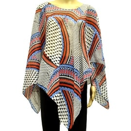 Beautiful Chiffon Lightweight Ponchos Wrap Scarf Mosaic Swirl
