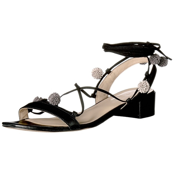Nine West Womens Rizzah Leather Open Toe Casual Ankle Strap Sandals