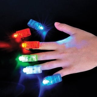 "Rhode Island Novelty 1"" Light-up Finger Beams Pretend Play Toy Products"