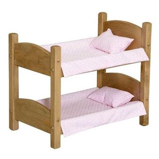 Lapps Toys & Furniture 006 H Wooden Doll Bunk Bed, Harvest