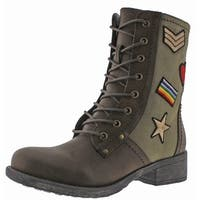 MIA Nate Patched Women's Military-Inspired Boots