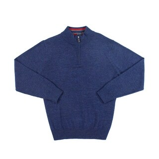 Tailorbyrd NEW Blue Mens Size XL 1/2 Zip Wool Longsleeve Sweater