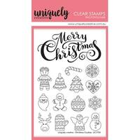 "Uniquely Creative 4""X6"" Clear Stamps 15/Pkg-Christmas Cookies"