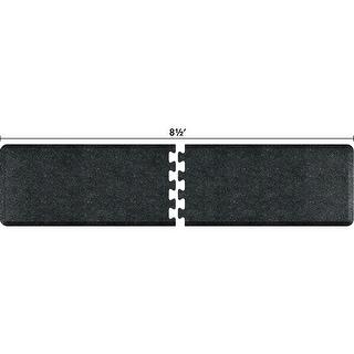 WellnessMats Anti-Fatigue Puzzle Set Office & Kitchen Mat, 8.5 Feet by 2 Feet, Granite Onyx - granite onyx