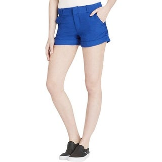 Aqua Womens Casual Shorts Cuffed Flat Front