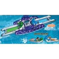 Water Sports 3-Piece Inflatable Battle Board Station Swimming Pool Squirter Set - Green
