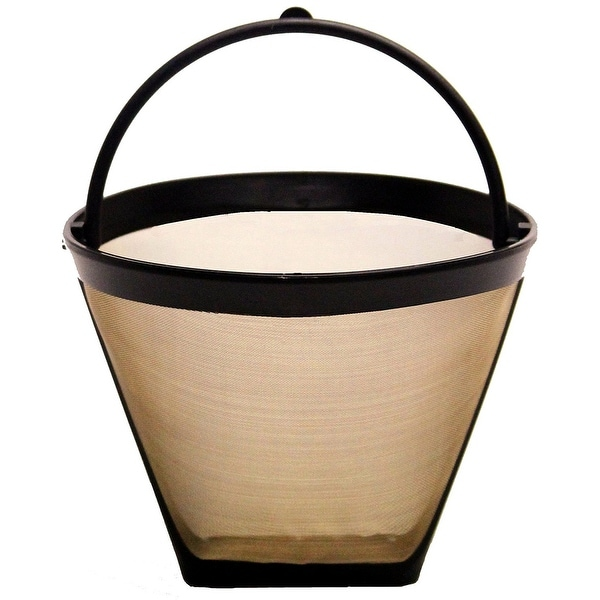 GoldTone Reusable #2, 4 Cup Cone Style Replacement Coffee Filter, Fits Cuisinart, Krups & Most other #2 Coffee Makers