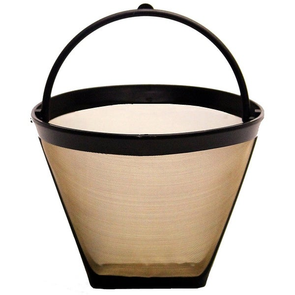 shop goldtone reusable 2 4 cup cone style replacement coffee filter fits cuisinart krups. Black Bedroom Furniture Sets. Home Design Ideas