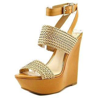 Jessica Simpson Eila 2 Women Open Toe Synthetic Tan Platform Heel