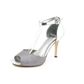Style & Co Swifty Women Peep-Toe Synthetic Silver Heels