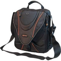 Mobile Edge Memms0 Mini Messenger Bag For Notebook/Ipads - Black/Orange