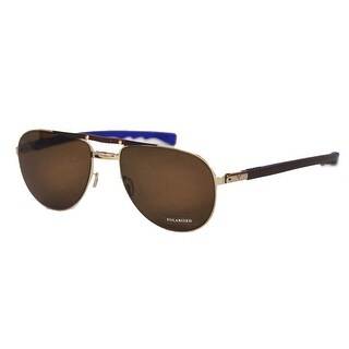 Ceo V Vison Brown/Blue Twister Extended Temples Bronze Polarized Sunglasses