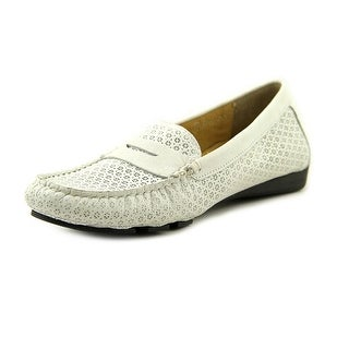 Vaneli Remy Women W Round Toe Leather White Loafer