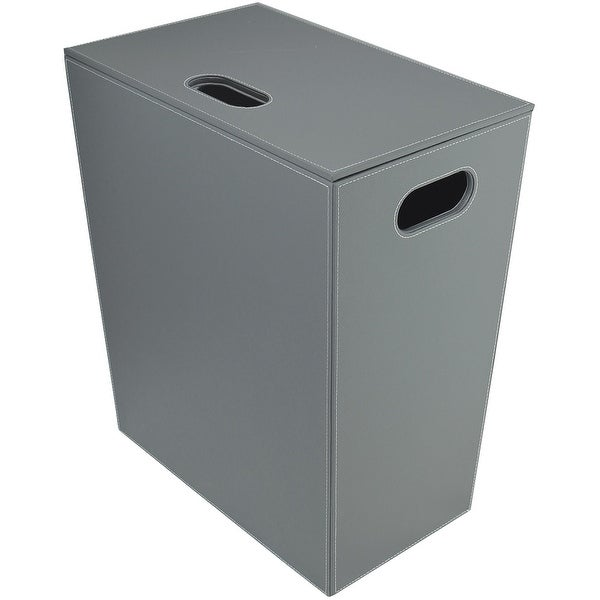 WS Bath Collections Ecopelle 2462 Ecopelle Leather Laundry Basket