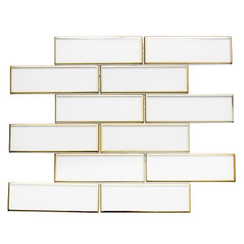 The Tile Life Athena White 2x6 Mosaic Sheet (11 sheets/ 11 sq ft)