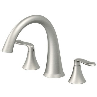 Jacuzzi MX2282 Piccolo Deck Mounted Roman Tub Filler Faucet with Metal Lever Handles