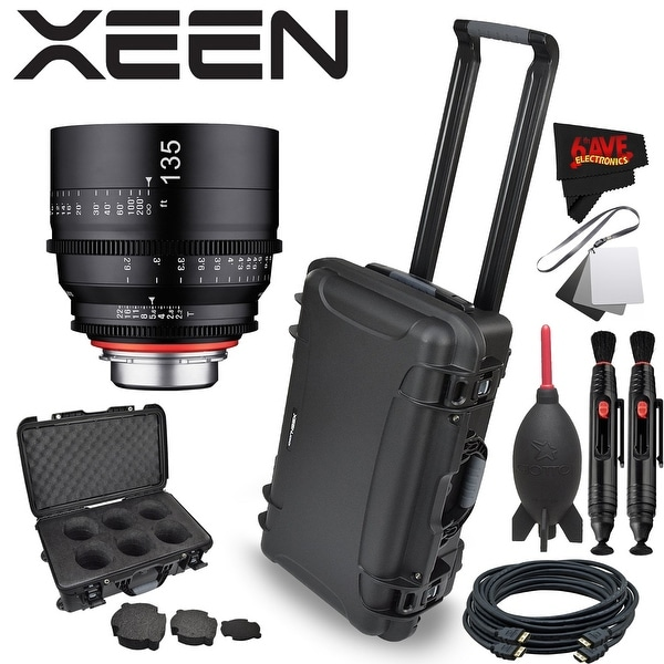 Rokinon Xeen 135mm T2.2 Lens with Canon EF Mount with Rokinon Hardshell Carrying Case - Black