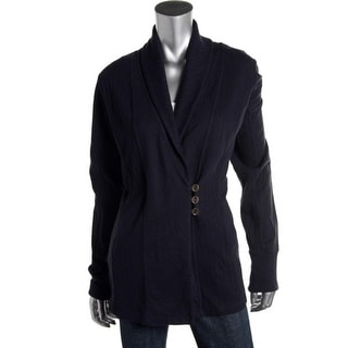 Lucky Brand Womens Cardigan Top Shawl Collar Long Sleeves Navy S