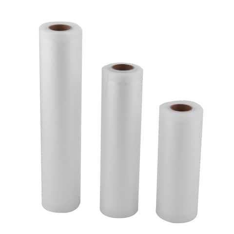 Kitchen PVC Food Saver Fruit Vegetable Storage Bag Vacuum Roll White 3 in 1
