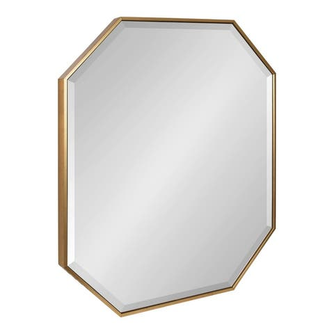 Kate and Laurel Rhodes Octagon Panel Framed Wall Mirror