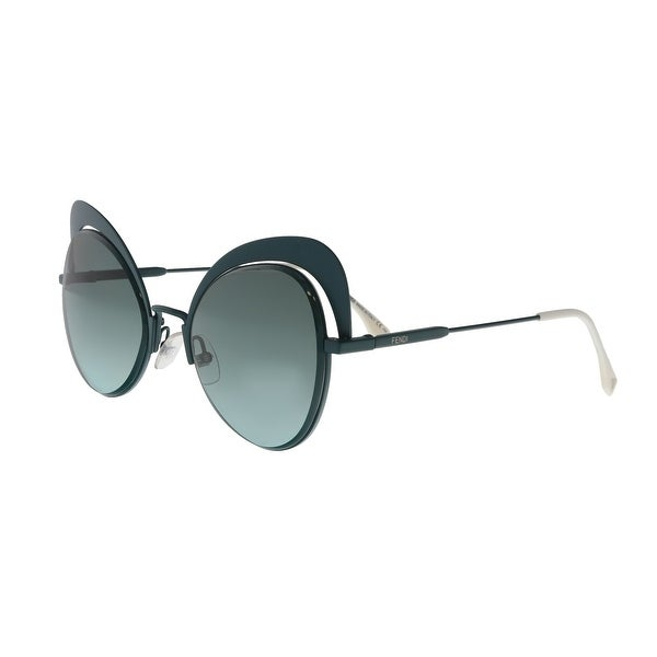 08e133ebe883 Shop FENDI FF 0247 S 01ED Green Cat Eye Sunglasses - No Size - Free ...