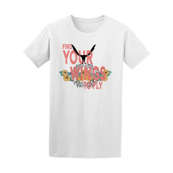 f829c4a2c Shop Find Your Wings To Fly Tee Men's -Image by Shutterstock - Free Shipping  On Orders Over $45 - Overstock - 21330415