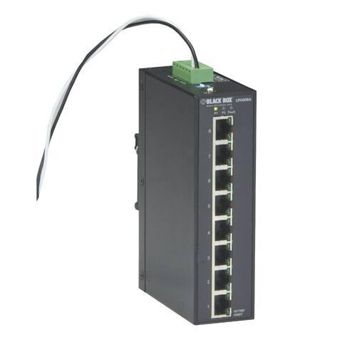 Black Box 8-Port Industrial Unmanaged Gigabit PoE plus Switch Black Box 8-Port Industrial Unmanaged Gigabit PoE plus Switch