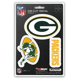 Green Bay Packers Decal Die Cut Team 3 Pack