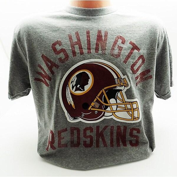 NFL Football Big Logo Tri-Blend Licensed Soft T-Shirt - washington redskins - helmet - Large