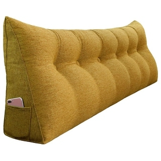 Link to WOWMAX Bed Rest Wedge Pillow Bolster Lumbar Support Daybed Back Cushion Similar Items in Decorative Accessories