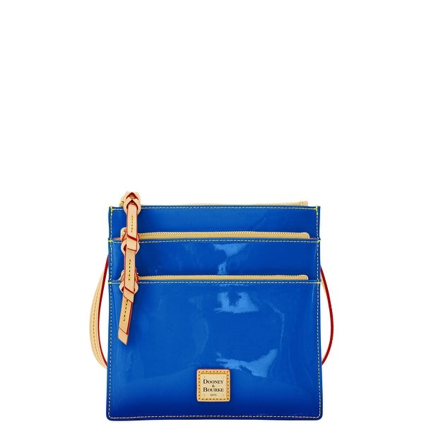 Dooney & Bourke Patent North South Triple Zip (Introduced by Dooney & Bourke at $148 in Mar 2016) - Ocean