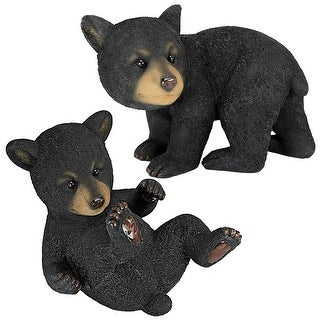 Design Toscano Roly-Poly Bear Cub Statues: Set of Two