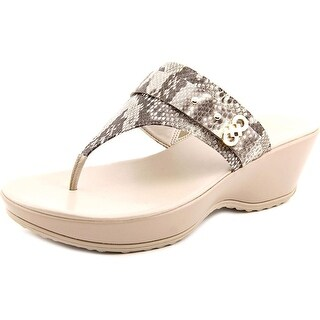 Cole Haan Margate Wedge.II Women Open Toe Leather Wedge Sandal