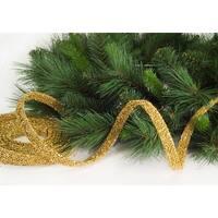 Pack of 8 Gold Glitter Beaded Artificial Christmas Garlands - Unlit 15'