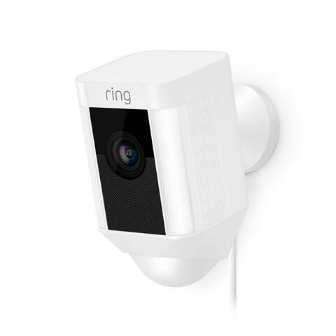Ring 8SH1P7-WEN0 Spotlight Wired HD Camera with 2-Way Talk & Spotlights, White