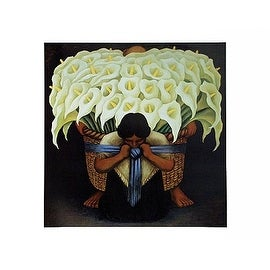 ''El Vendodor de Alcatraces'' by Diego Rivera Latino Art Print (22.5 x 28.5 in.)