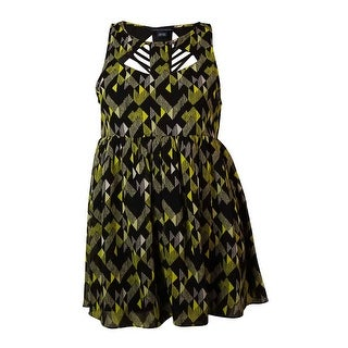 French Connection Women's Geo Print Cut-Out Crepe Dress - l