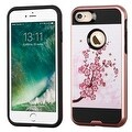 Insten Pink Spring Flowers Hard Snap-on Dual Layer Hybrid Case Cover For Apple iPhone 7 - Thumbnail 0