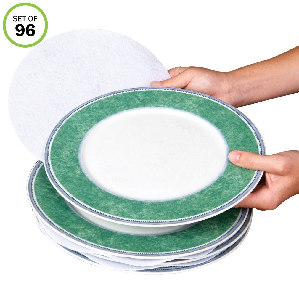 Kitchen Dinnerware Storage /& Organization Product Set Of 12 Gray Felt Plate Dividers HZC208-C China Protectors Separators