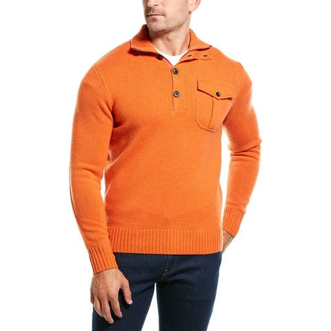 Amicale Cashmere 1/4-Zip Wool & Cashmere-Blend Sweater