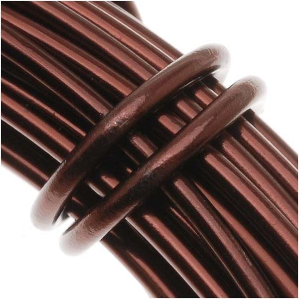 Aluminum Craft Wire Brown 12 Gauge 39 Feet (11.8 Meters)