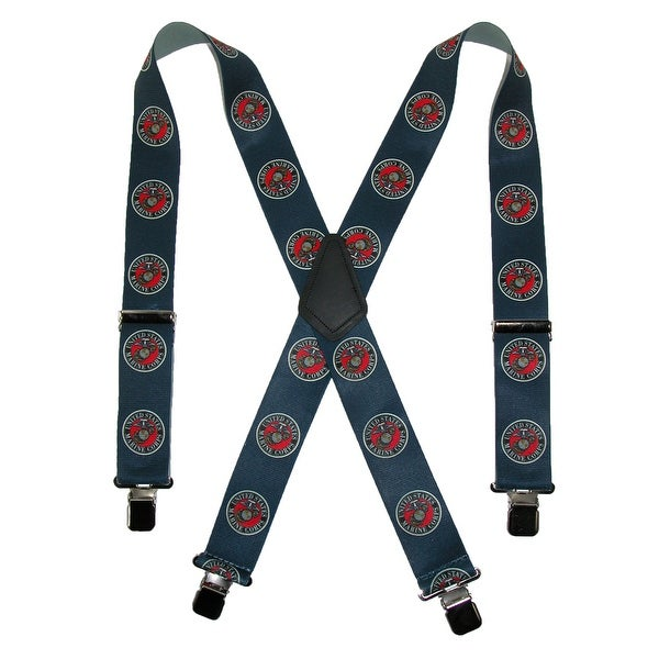 CTM® Men's Elastic US Marine Corps Clip End Suspenders (Tall Available)
