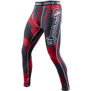 Hayabusa Metaru 47 Silver Compression Pants - Black/Red - mma grappling bjj (2 options available)