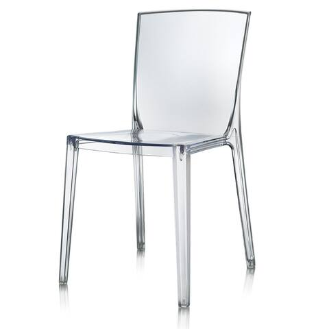Harp & Finial Logan Clear Polycarbonate Side Chair