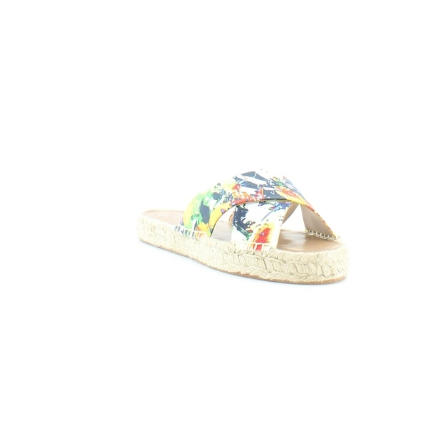 French Connection Luz Women's Sandals & Flip Flops Abstract Palm - 9
