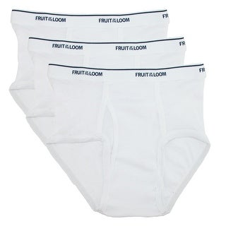 Fruit of the Loom Boy's Cotton Ribbed Brief Underwear (Pack of 3)